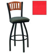 "Cherry 5 Wave-Back Swivel Bar Stool 17-1/2""W X 17""D X 42""H - Red - Pkg Qty 2"