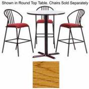 "Premier Hospitality Square Bar Table with X-Base 30""W x 30""D x 42""H - Medium Oak"