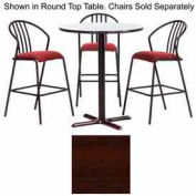 """Premier Hospitality Square Bar Table with X-Base 42""""W x 42""""D x 42""""H - Figured Mahogany"""