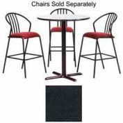"""Premier Hospitality Round Bar Table w/ X-Base 42""""W x 42""""D x 42""""H - Graphite Nebula"""