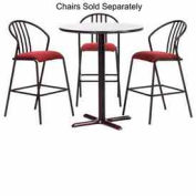 """Premier Hospitality Round Bar Table w/ X-Base 42""""W x 42""""D x 42""""H - Gray Nebula"""