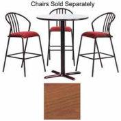 """Premier Hospitality Round Bar Table w/ X-Base 42""""W x 42""""D x 42""""H - Wild Cherry"""