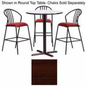 """Premier Hospitality Square Bar Table with X-Base 48""""W x 48""""D x 42""""H - Figured Mahogany"""
