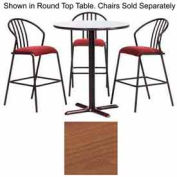 """Premier Hospitality Square Bar Table with X-Base 48""""W x 48""""D x 42""""H - Wild Cherry"""