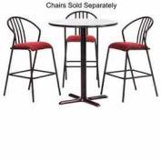 """Premier Hospitality Round Bar Table w/ X-Base 48""""W x 48""""D x 42""""H - Gray Nebula"""
