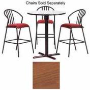 """Premier Hospitality Round Bar Table w/ X-Base 48""""W x 48""""D x 42""""H - Wild Cherry"""