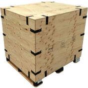 "Pak-Rite SURE-LOK® Fir Plywood Premium Grade Collapsible Crate w/ Lid, 46""L x 46""W x 59""H"