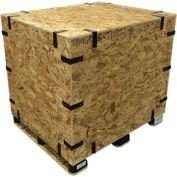 "Pak-Rite SURE-LOK® OSB Standard Grade Collapsible Crate w/ Lid, 46""L x 22""W x 23""H"