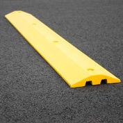 Ralentisseur jaune avec protection pour câbles et quincaillerie,72 po L