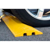 """Yellow Speed Bump with Cable Protection & Hardware - 96"""" Long"""