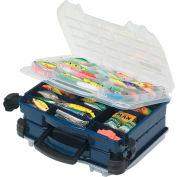 """Plano 395210 Doubled-Sided LockJaw Compartment Box, 14-1/2""""L x 11-3/4""""W x 6-5/8""""H, Blue/Clear - Pkg Qty 2"""