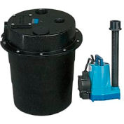 Little Giant 505055 WRS série 1/2HP Water Removal System - interrupteur à diaphragme 115V-Piggyback