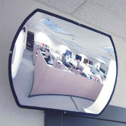 "Roundtangular Acrylic Convex Mirror, Indoor, 12""x18"", 160° Viewing Angle"