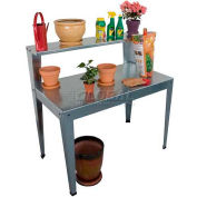 """Galvanized Potting Bench, 24""""L x 44""""W x 44""""H"""
