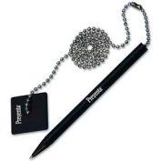 """PM® Preventa antimicrobiens Counter Pen, 24"""" chaine bille, encre noire"""