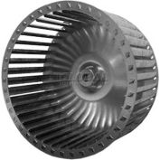 "Single Inlet Blower Wheel, 7"" Dia., CCW, 3600 RPM, 5/8"" Bore, 3-3/16""W, Steel"