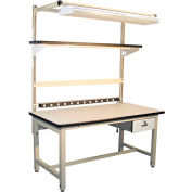 """Global Industrial™ Bench-In-A-Box Standard Workbench, Plastic Laminate Top, 72""""Wx30""""D, Beige"""