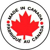 "Made In Canada Shipping Label -  1"" Diameter - Bilingual"