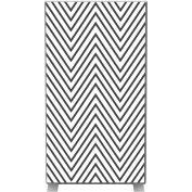 Paperflow EasyScreen Room Divider, Black Zigzag