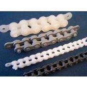 Plastock® #40 Roller Chain 40ppchain, polypropylène, 1/2 Pitch, gris