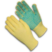 PIP Kut-Gard® Kevlar® Gloves, 100% Kevlar®, Medium Weight, PVC Dots One Side, L, 1 DZ