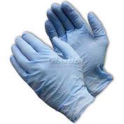 Gants Shield Nitrile Gants, Sans poudre, Bleu, 100/Boîte, Grand