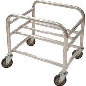 "Global Industrial™ Bulk Mover Cart, 6 Bushel, 28""L x 22-1/4""W x 26-1/4""H, Gray"