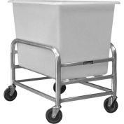 "Global Industrial™ Bulk Mover Cart with White Tub, 8 Bushel, 36-1/4""L x 24-1/4""W x 36""H"
