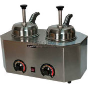 "Paragon 2029D Pro-Deluxe Can Dual Warmer Unit Pump/Ladle, 19-3/4""W x 11-3/4""D x 9""H - Model D"