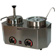 "Paragon 2029E Pro-Deluxe Can Dual Warmer Unit Pump/Ladle, 19-3/4""W x 11-3/4""D x 9""H - Model E"
