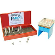 """""""Metric 10"""" TruPunch® Punch and Die Set with Stand"""