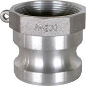 "1"" Aluminum Camlock Fitting - Male Coupler x FPT Thread"