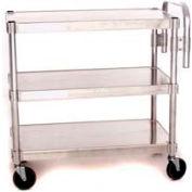 """Prairie View NUC2424-3, Utility Cart, 3-Shelf, 24""""W x 36""""H x 24""""D, Aluminum"""