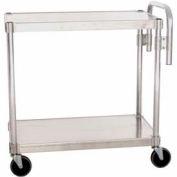 """Prairie View AUC2436, Utility Cart, 2-Shelf, 24""""W x 36""""H x 36""""D, Aluminum"""