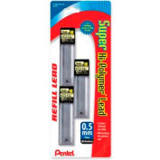 Pentel® Super Hi-Polymer Lead Refill, HB Leads, Fine, 0.5mm, 30/Tube, 3 Tubes/Pack