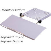 Hoffman CCS1KBF, Keyboard Frame, Pend. Arm, Fits Series 1, Steel/Chrome