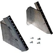 Hoffman DBPRA4U Patch Panel Rack Angles, 4RU, Steel
