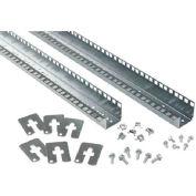 Hoffman PRA1920TP Rack Angles,19 in.Tapped, Fits 2000mm, Steel/zinc