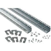 Hoffman PRA2316TP Rack Angles,23 in.Tapped, Fits 1600mm, Steel/zinc
