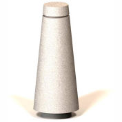 "Petersen Manufacturing BLT Tapered Round Concrete Bollard, 12"" Dia X 30"" H, Type B Mount, Sand"