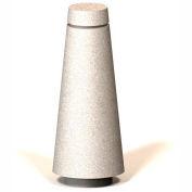 """Petersen Manufacturing BLT Tapered Round Concrete Bollard, 12"""" Dia X 30"""" H, Type B Mount, Tan"""
