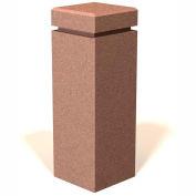 "Petersen Manufacturing SQB-12 Square Concrete Bollard, "" Dia X 30"" H, Type A Mount, Sand"