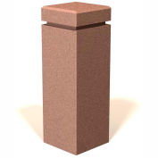 "Petersen Manufacturing SQB-12 Square Concrete Bollard, "" Dia X 30"" H, Type B Mount, Sand"