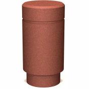 """Petersen Manufacturing B-3 Round Concrete Bollard, 18"""" Dia X 35"""" H, Type A Mount, Tan"""