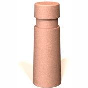 """Petersen Manufacturing B-C Round Concrete Bollard, 10"""" Dia X 34"""" H, Type B Mount, Sand"""