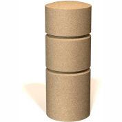 "Petersen Manufacturing BOR36 Round Concrete Bollard, 14"" Dia X 36"" H, Type B Mount, Sand"