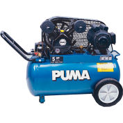 Puma PK5020, 2 HP, Portable Compressor, 20 Gallon, Horizontal, 135 PSI, 5 CFM, 1-Phase 115/230V
