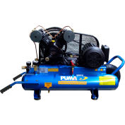 Puma PUK-2008MDC, 2 HP, Wheelbarrow Compressor, 8 Gallon,Horizontal,135 PSI,7.4 CFM,1-Phase 115/230V