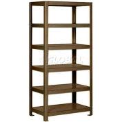 "Pucel™ Shelving Unit, 36""W x 65""H x 24""D, 6 Levels, 12 GA Shelves, Welded, Dark Brown"