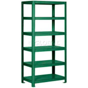 "Pucel™ Shelving Unit, 36""W x 65""H x 24""D, 6 Levels, 12 GA Shelves, Welded, Dark Green"